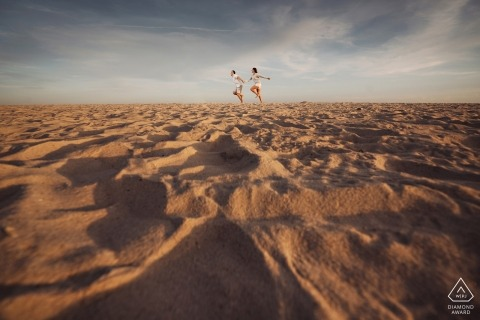 Robert Moses State Park — Engagement Session — Sand Dunes Couple