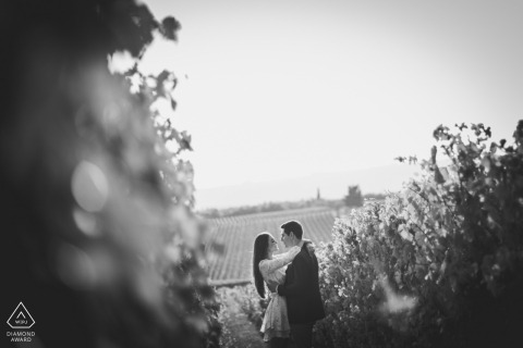 Borgo San Felice, Siena Portrait in the vineyard - Engagement Shoot