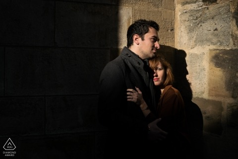 Bayonne, France pre wedding photo session   Playing with the lights