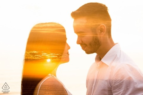 Miraflores Lima Double Exposure - Engagement Shoot, Fine Art Photography