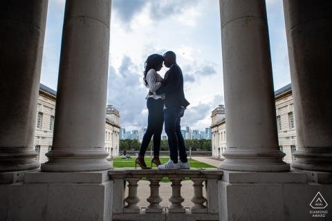 Painted Hall, Londres - Retrato de compromiso previo a la novia y al novio