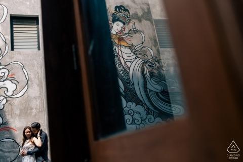 曼谷愛情的倒影-一對夫婦的婚禮前圖片會議