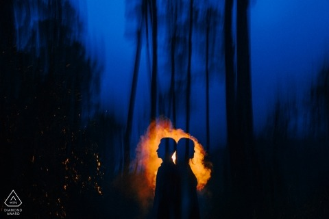 Da Lat, Vietnam Pre Wedding Picture Session - Shadow of night lovers