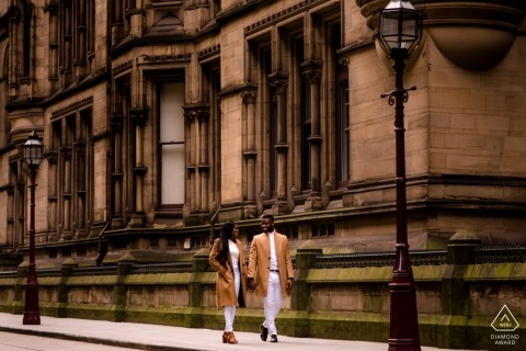Manchester City Centre - Engagement portrait session: lets go for a walk