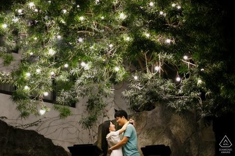China Xiamen Pre-Wedding Photo Shoot - Couple with the Tree of love.