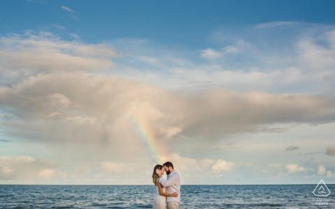 Alagoas Engagement Couple Portrait - Image contains: somewhere over the rainbow