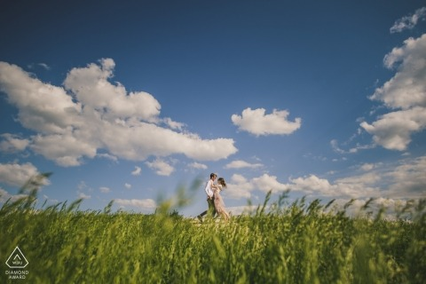 Crete Senesi, Italië Engagement Photo Session