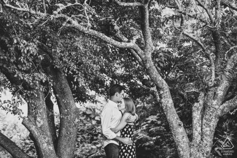 Engagement Session - Portrait contains:Lily Pond Park Nantucket Couple shares an embrace during their engagement session on Nantucket.