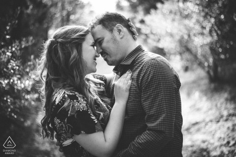 Athens, Plaka love couple portrait in black and white - Engagement Photography