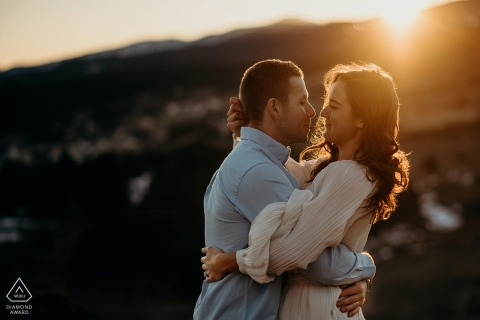 La LLagonne, Pyrénées Orientales, France | Sunset Engagement session in the mountains