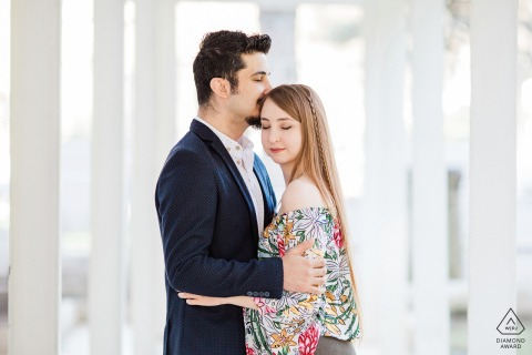 Bursa, Turkey engagement pre-wedding shoot of hugging lovers