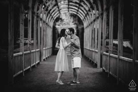 Vignamaggio, Florence, Tuscany prewedding photography | Engagement image in black and white