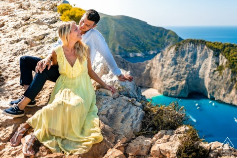 Paolo Blocar Engagement Photographer: A Couple Over the Shipwreck Bay