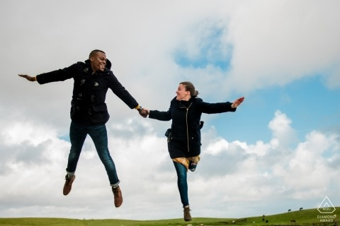 Cliffs of Mohr - Ireland Engagement Shoot in the Clouds | I can Fly!