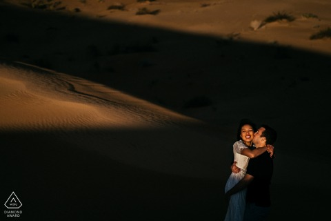 Glamis, Ca Desert Engagement Photo Shoot - A Couple in the sand dunes