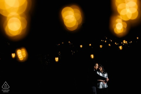 Penns Landing Philadelphia engagement photographer: I Saw the lights on the ceiling and had to use them.
