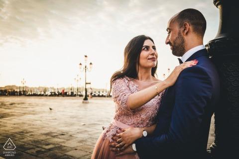 Zimowe zaręczyny w Wenecji - sesja portretowa dla pary