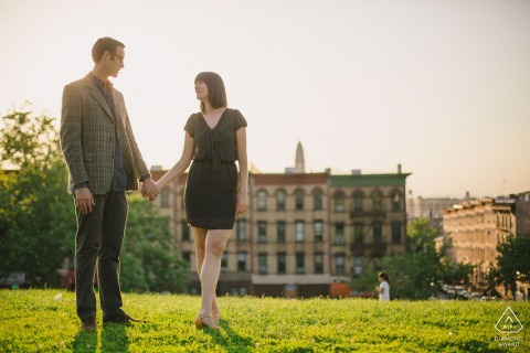 Sunset Park, Brooklyn, New York City engagement photo session.