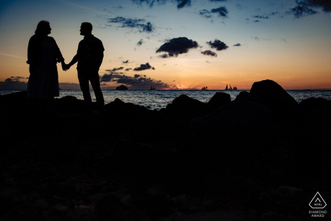 Key West Pre Wedding Photography - Engagement Shoot in Key West Ocean view