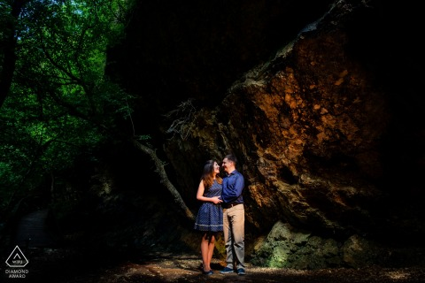 Budapest, Hungary Wedding Portrait Photography | Engagement photo session in Budapest in the woods