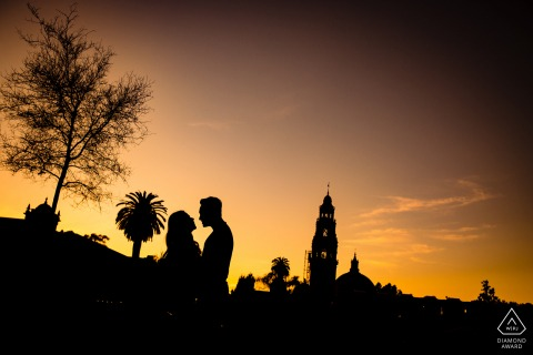 California Couple Portrait Session - Sunset Silhouette Foto