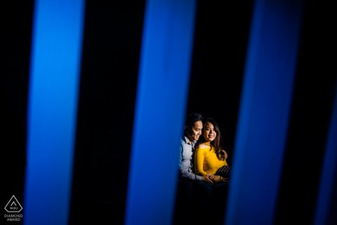 Southern CaliforniaPortrait Session | Engagement Portraits in Blue with a Light