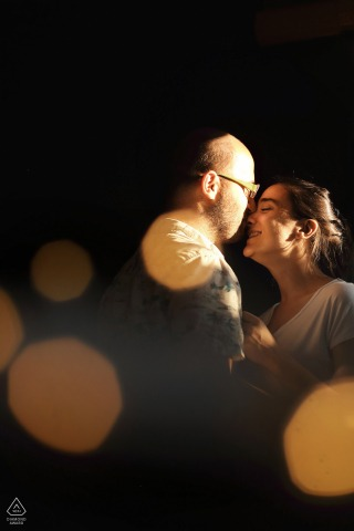 Istanbul, Turkey shining couple | Bokeh engagement picture
