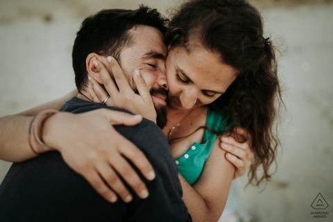 Ile d'Oléron France Couple hugging picture