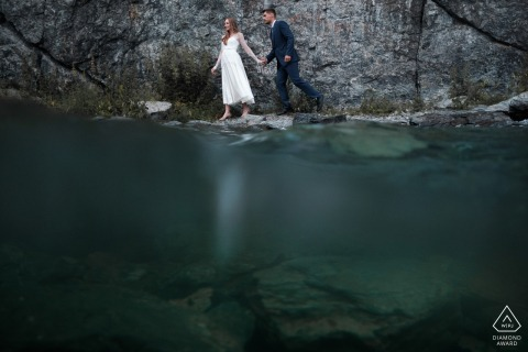 Russia, Miass Engagement Shoot Session - Underwater portrait