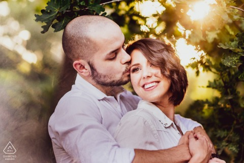 Engagement Photo Session at Majic Forest, Cape Town - Beautiful natural golden hour light combined with some creative tricks and of course, a stunning couple.