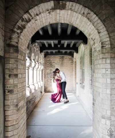 Engagement Sessions | University of Toronto Arch Couple Portrait