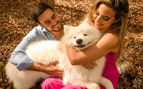 Engaged Couple Session | Roteiro, Alagoas couple with love and dog