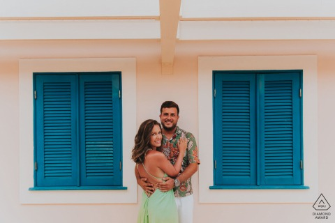 Engagement Photo Session at Bahia / Brasil colorful portrait