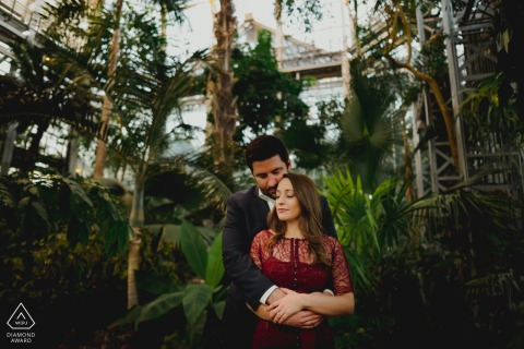 Engagement Photo from U.S Botanic Garden - Romantic picture at the U.S Botanic Garden