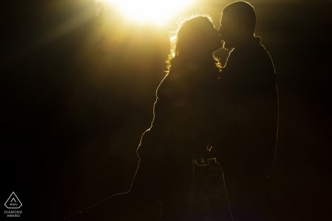 Engagement Photography | palace of fine arts sunlit kiss