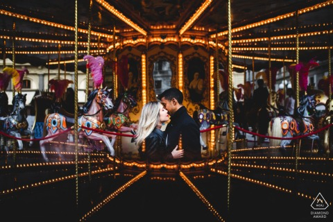 Engagement Photo Sessions   Carousel in Florence