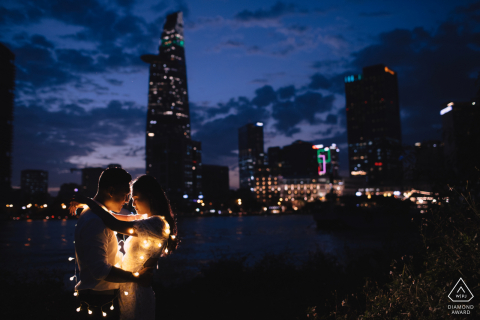 Engagement Photography | Saigon, Vietnam - Leave the city light right behind us