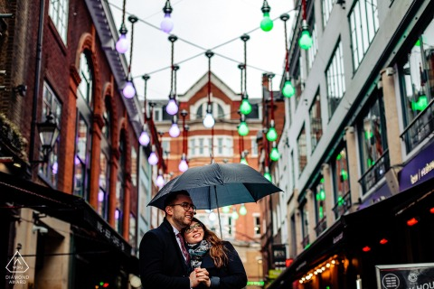 Engagement Photo Sessions   London, UK - The beautiful lights of Carnaby St.