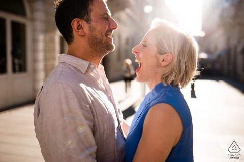 Trieste, Italy - Funny moments during engagement session