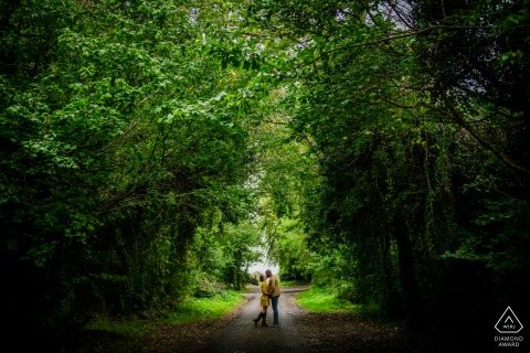 Engagement Photo Session at Ireland Trees of life - Couple in the Trees