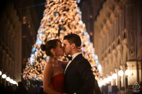 Een Christmas Engagement-opname in Milaan