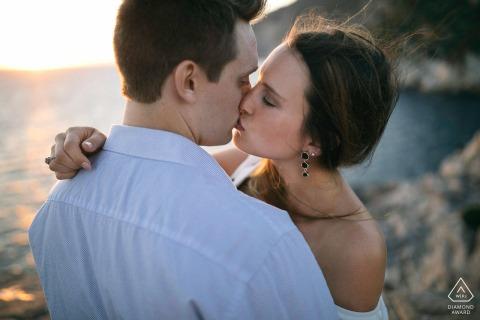 Verlovingsfotografie voor een Amerikaans stel in Portovenere in Italië.