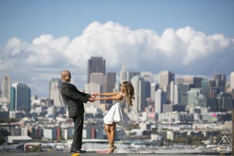 Retratos de parejas de San Francisco, California: en la nube nueve
