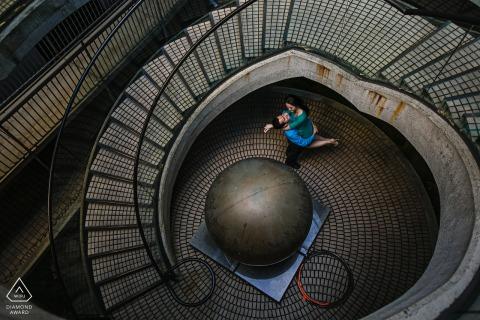 Retrato de compromiso de San Francisco, California: redondo como un disco