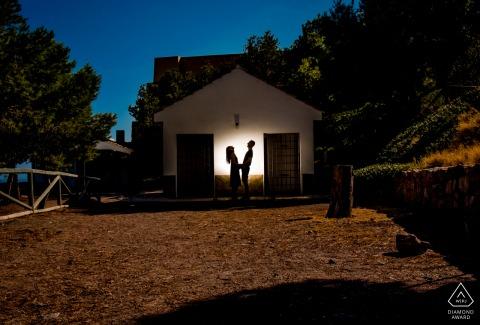 Aguilas - Spain lit engagement portrait In the shadows