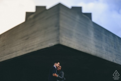 London pre-wedding shoot - urban minimalism