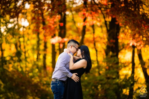 Boston Engagement Session in New England foliage