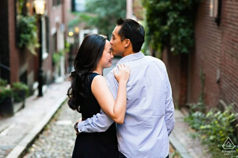 Boston Engagement Session in Beacon Hill in MA