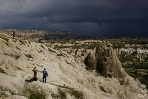 cappadocia, turkey engagement portrait session in the hills