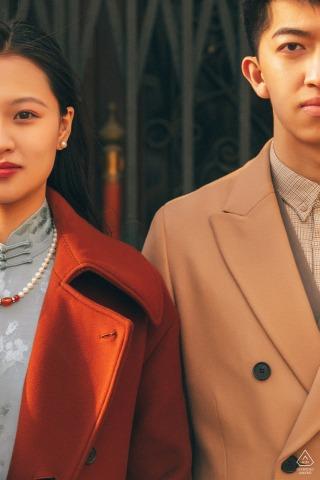 China couple pre wedding portrait in beijing